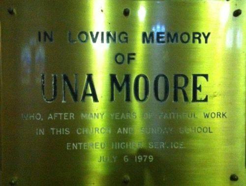 Una Moore : 18-July-2012