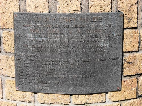 Vasey Esplanade  Air Disaster Plaque