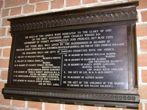 Archdeacon Gunther Plaque : 30-August-2014