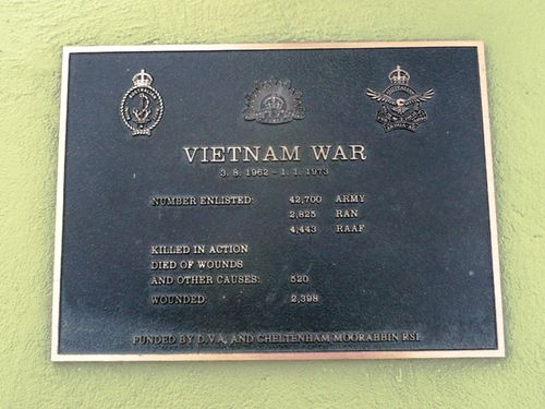 Vietnam War Plaque : 28-September-2012