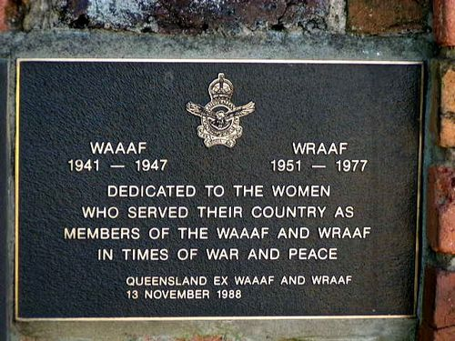 WAAF + WRAAF Plaque