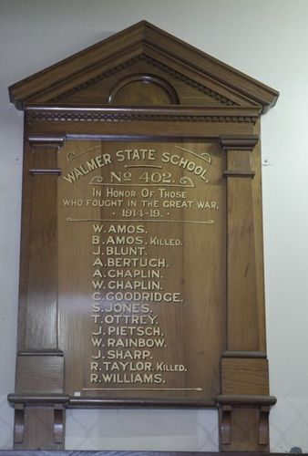 Walmer State School No 402 Roll of Honour : 09-June-2013