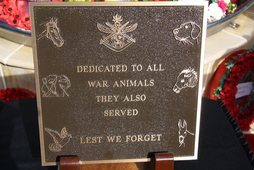 War Animals Plaque : 04-January-2013