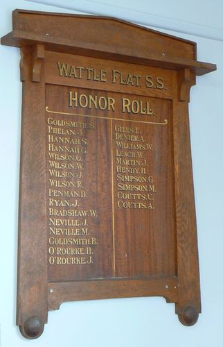 Wattle Flat State School Honour Roll : 21-May-2012