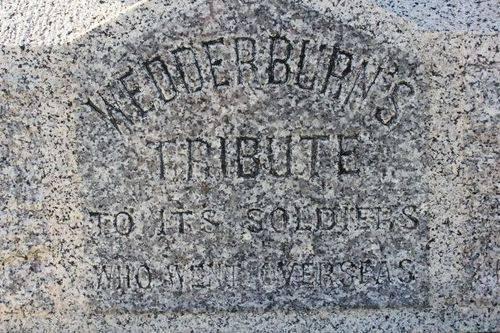 Wedderburn War Memorial : 31-August-2011
