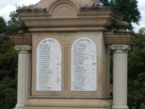 West Ipswich + One Mile Honour Roll
