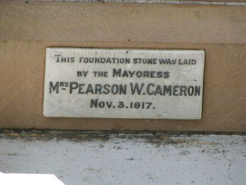 Western Suburbs Foundation Stone Plaque