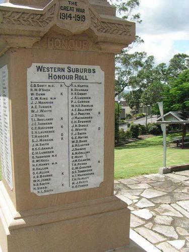 Western Suburbs Honour Roll