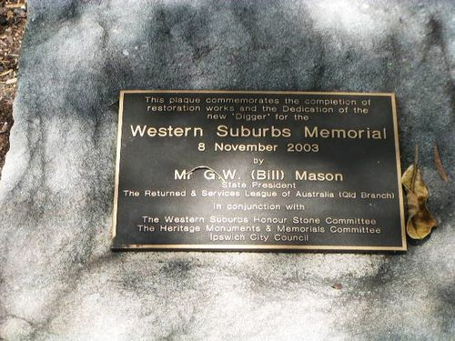Western Suburbs Restoration Plaque