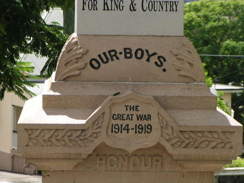 Western Suburbs War Memorial Inscription
