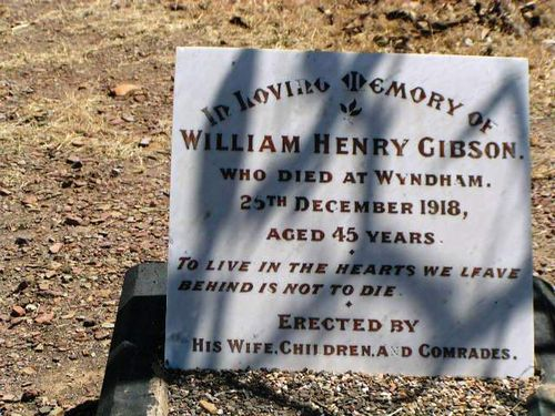 William Henry Gibson Headstone
