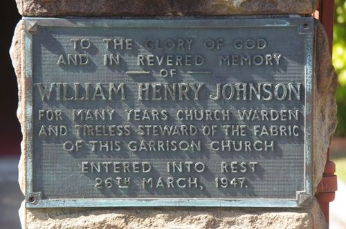 William Henry Johnson Plaque / April 2013
