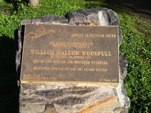 Bill Woodfull Plaque : August-2014