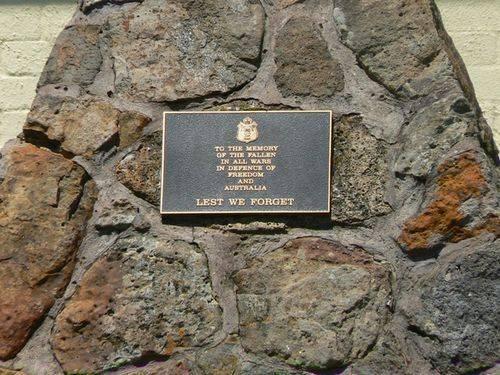 Woodend War Memorial