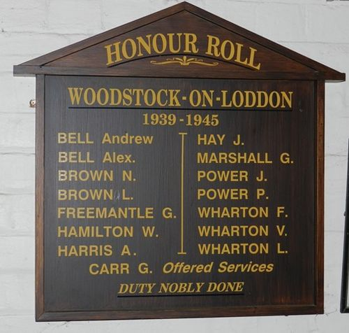 Woodstock-On-Loddon Honour Roll : 03-June-2013