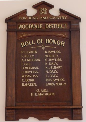 Woodvale District Honour Roll : 14-March-2013