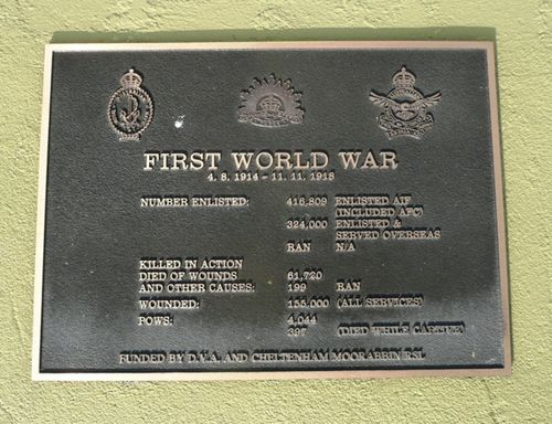 World War One Plaque : 28-September-2012