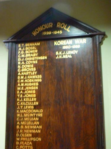 World War Two & Korean War Honour Roll : 25-April-2011