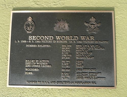 World War Two Plaque : 28-September-2012