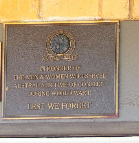 World War Two Plaque : 30-December-2012