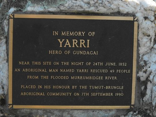Yarri Plaque / May 2013