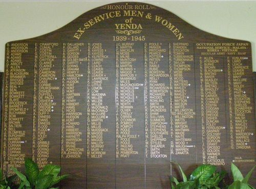 Ex-Service Honour Roll : 27-03-2014