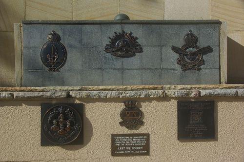 Memorial Insignias + Plaque