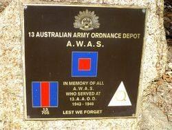 13th Australian Army Ordnance Depot - A.W.A.S.