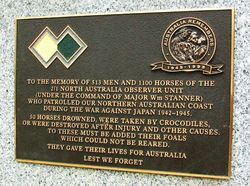 2/1 North Australia Observer Unit Plaque; 30-June-2015