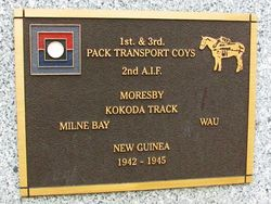 1st & 3rd Pack Transport Plaque : 30-June-2015
