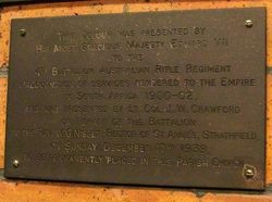 4th Battalion Plaque: 17-July-2016