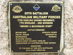 25th Battalion Australian Military Forces (The Darling Downs Regiment)