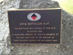 2-21st Battalion Plaque : November 2013