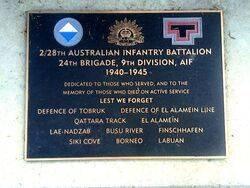 2nd  28th Australian Infantry Battalion