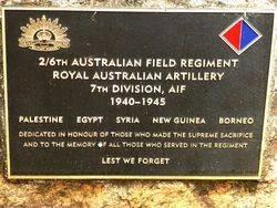 2nd / 6th Australian Field Regiment Royal Australian Artillery