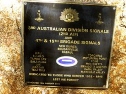 3rd Australian Division & 4th and 15th Brigade Signals
