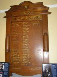 3rd Australian Garrison Artillery Roll of Honour