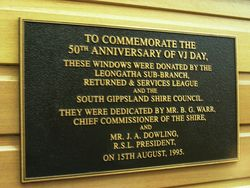 Plaque Inscription; 30-October-2014