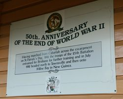 50th Anniversary of the End of World War Two