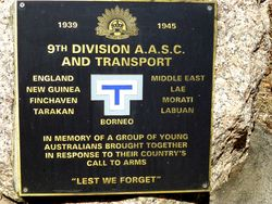 9th Division Australian Army Service Corps & Transport