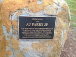 A J Parry Plaque : November 2013