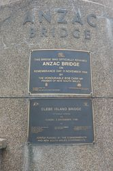 Anzac Bridge Plaques : 19-November-2014 (Russell Byers)