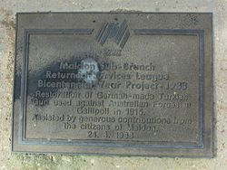 Bicentenary Plaque : 25-March-2015