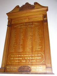 Adamstown Methodist Church Honour Roll