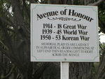 Albany Avenue of Honour Sign