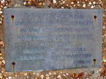 Plaque Inscription : 02-August-2014