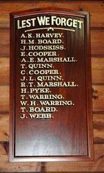 02-November-2014 : Replica Honour Roll