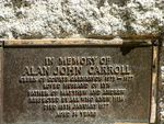 Allan Carroll Memorial  Inscription