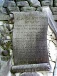 Alonzo Spragg Inscription