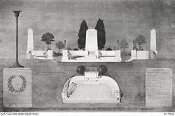 1920s : Design drawing (Australian War Memorial H17904)